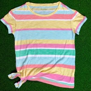 Lilly Pulitzer Pastel Colors Striped Top Side Knot